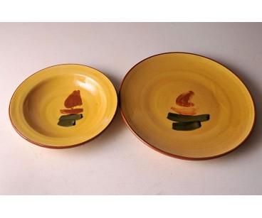 Juego de platos decoración velero