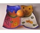 Plato de colores para decoración con bola