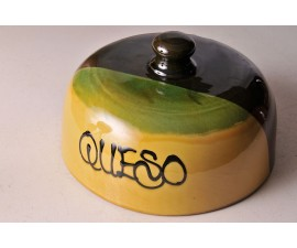 Quesera artesanal de cerámica