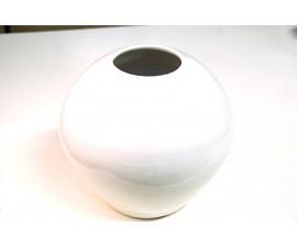 Jarrón de decoración esmaltado blanco